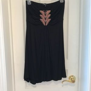 SKY Strapless Dress with Crystal Butterflies